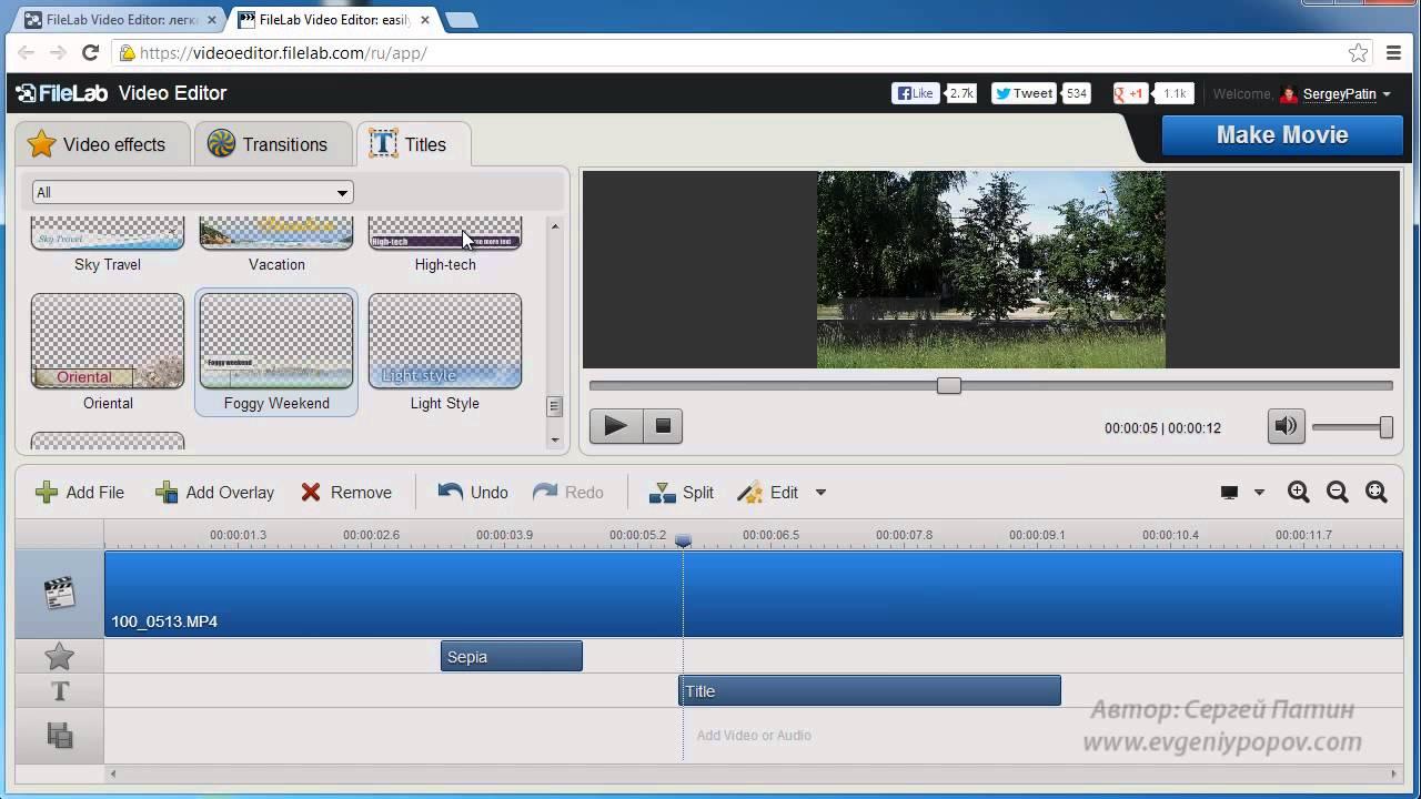 Программа работы с видео онлайн обзор торгов на бирже