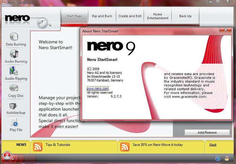 Технология записи в Nero Burning ROM